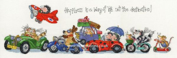 Happiness Is A Way Of Life Margaret Sherry Stitch Kit